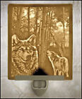 Lithophane Night Light - Wolves - Fine Porcelain