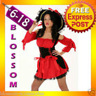 8120 Ladies Pirate Wench Halloween Fancy Dress Costume + Hat