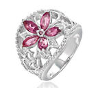 3.6ct Mixed Tourmaline In Sterling Silver Bloom Ring