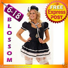 8202 Ladies Sailor Outfit Uniform Fancy Dress Costume