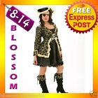 8250 Ladies Captain Pirate Wench Fancy DressCostume+Hat