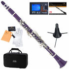 Mendini Bb Clarinet ~Black Blue Green Pink Purple Red White +Tuner+Stand+Case on Rummage