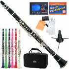 Mendini Bb Clarinet ~Black Blue Green Purple Red White