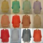 NEW Primark SHEER CHIFFON Shirt Blouse RED ORANGE MUSTARD LONG SLEEVES 8-20