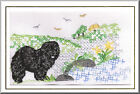 Chow Chow Birthday Card Embroidered by Dogmania