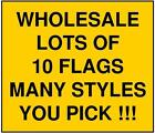 3x5 Large Lot of 10 Checkered Flag Wholesale Discount Ban...