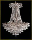 "Crystal Chandelier - 4575E19 - 19""W x 22""H - World Class Lighting"