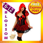 E99 Ladies Deluxe Little Red Riding Hood Fancy Dress Halloween Costume Outfit