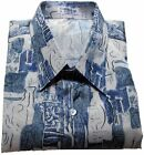 Mens Thai Silk Shirt  Short - Long Sleeve / S-M-L-XL-XXL-XXXL /  Pattern no.12