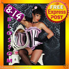 5092 Black Pink Polka Burlesque Moulin Rouge Costume Lolitta Corset Tutu Skirt