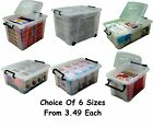 British Made Smart Box Clear Plastic Storage Boxes With Lids - SIZE CHOICE