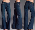 $200 NWT TRUE RELIGION JEANS DANA BUGSY GOLD TROUSER MIDNIGHT RANGE SIZE 24 - 30