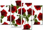 NEW LARGE MODERN CANVAS WALL ART ABSTRACT PICTURE  PRINTS  ART MOUNTED ROSE RED