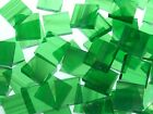 PALE GREEN WISPY handcut stained glass mosaic tiles #172