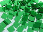 LIGHT GREEN TRANSLUCENT handcut stained glass mosaic tiles #118
