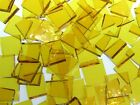 YELLOW ROUGH ROLLED handcut stained glass mosaic tiles #250