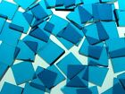 DEEP AQUA WATERGLASS handcut stained glass mosaic tiles #268