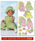 SEWING PATTERN ! MAKES DRESS~ROMPER~HAT~TOTE!  MIX~MATCH CLOTHES! BABY~TODDLER