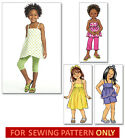 SEWING PATTERN! MAKES TOP~DRESS~SHORTS~PANTS~LEGGINGS! CHILD SIZES 2 TO 8! GIRLS