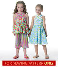 SEWING PATTERN! MAKES TOP~DRESS~CAPRI PANTS! CHILD 2 TO 8! GIRL~BOUTIQUE STYLE!