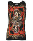 Darkside Clothing Playing Card Vintage Queen Of Hearts Beater Vest Top Tshirt