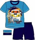 OFFICIAL STAR WARS BOYS 2PC SHORT & TOP PYJAMAS  R2D2 C3PO ALL SIZES