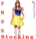 Charming Snow White Woman Fancy Dress Costume Fever Edition + Free Stocking