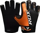 Auth RDX Gel Weight Lifting Body Building Gloves Gym Straps Bar Training Leather