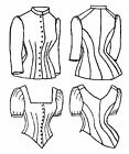 Внешний вид - Sewing pattern 1885 Cuirass Bodice Blouse Victorian reproduction TV460