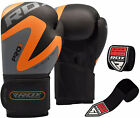 RDX Rex Leather Boxing Gloves Fight Punch Bag Muay Thai Grappling Pad Kick MMA R
