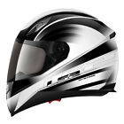 LS2 FF384 IRON MOTORCYCLE , MOTORBIKE  HELMET WHITE/ BLACK ALL SIZES