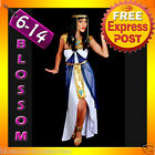 G20 Ladies Cleopatra Egyptian Goddess Fancy Dress Halloween Costume & Headband