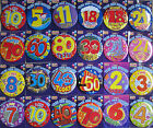 CHOICE OF 22 FANTASTIC COLOURFUL JUMBO GIANT PARTY BADGES AGES 1 TO 80