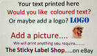 210 PERSONALISED LABELS 38mm X 63mm - AVAILABLE IN MANY COLOURS