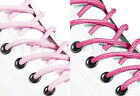 ROUND PINK SHOE LACES LONG SHOELACES - 3mm wide - 11 LENGTHS - 2 SHADES