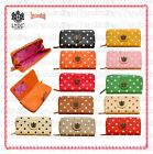 LYDC Designer Ladies(Women) Polka Dot Print Faux Leather Purse / Wallet / Clutch