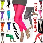 Footless Bright Neon Fluro 80s 70s Disco STRETCH Pants Metallic Leg Wear Tights