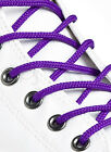 ROUND PURPLE SHOE LACES LONG SHOELACES - 3mm wide - 11 LENGTHS - HIGH QUALITY
