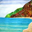POLIHALE BEACH, Kauai Hawaii~ Hawaiian Batik Fabric Quilt Panel Block
