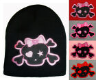 "METAL ROCK  ""PUNK GIRL""  WOMEN'S WINTER KNIT BEANIE CAP - CHOICE OF COLOR"
