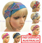 20s 20's great gatsby Party Costume Headband Head Hair Band Wrap BOW CHECK 6colr
