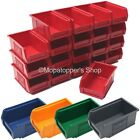 NEW Quality British Made Plastic Parts Storage Bins 20 x Size 2 - Colour Choice
