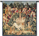 The Hunt of the Unicorn Medieval Jacquard Woven Cotton Art Tapestry Wall Hanging