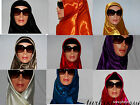 "SOLID COLOR TURKISH QUALITY SILK SATIN 37 "" SQU SCARF/HIJAB/TURBAN/SHAWL ISLAMI"