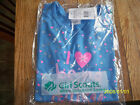 NWT Girl Scout T-shirt Blue XXS 4/5 XS 6/6X I Love Being a Daisy short sleeved