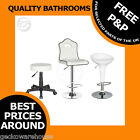 Contemporary Breakfast Kitchen Leather Bar Stool Barstools White