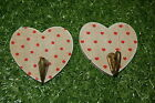 Gisela Graham Natural Rystic Lime wash Heart With Red Polka Dot or Heart Details