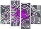 CANVAS WALL ART LARGE QUALITY ABSTRACT PRINTS  DIGITAL FLUID PURPLE PINK