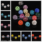 10 New 10mm Austria Crystal Rhinestone Pave Finding Spacer Ball Beads FREE SHIP