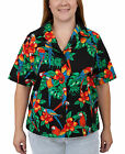 Benny's Womens Parrots Hawaiian Shirt